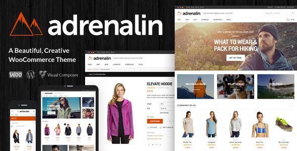 Adrenaline Responsive WooCommerce WordPress Theme