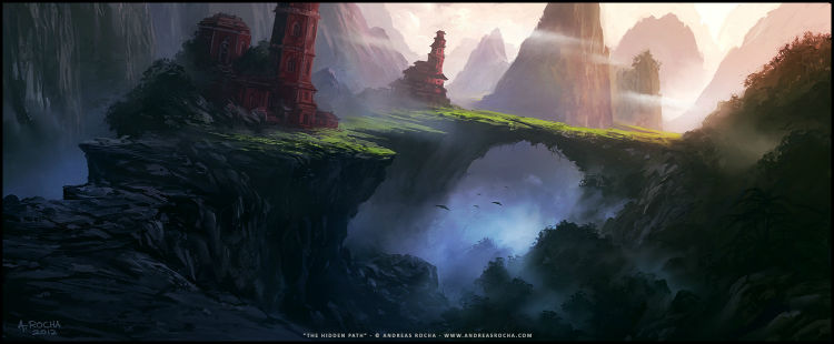 Andreas Rocha concept art painting