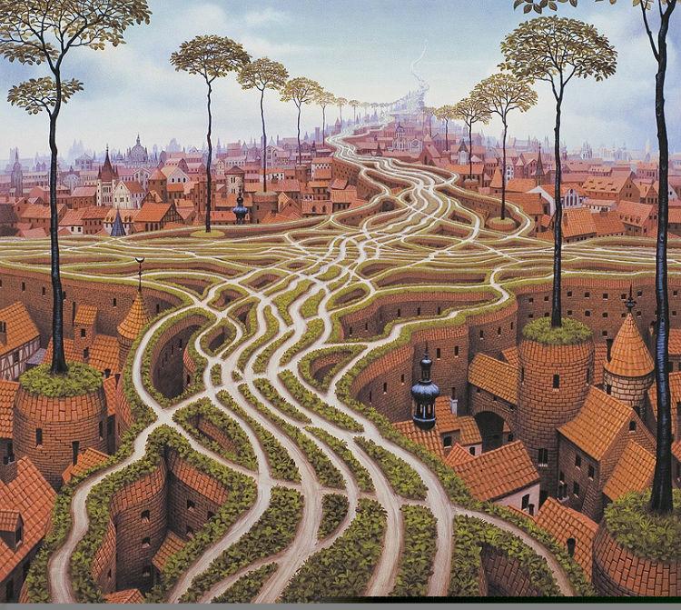 Jacek Yerka - art painting