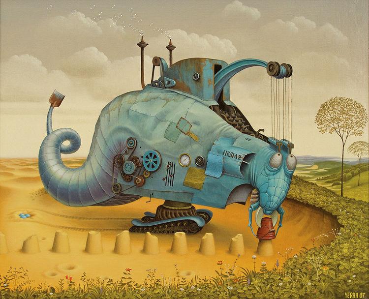 Jacek Yerka - painting artist