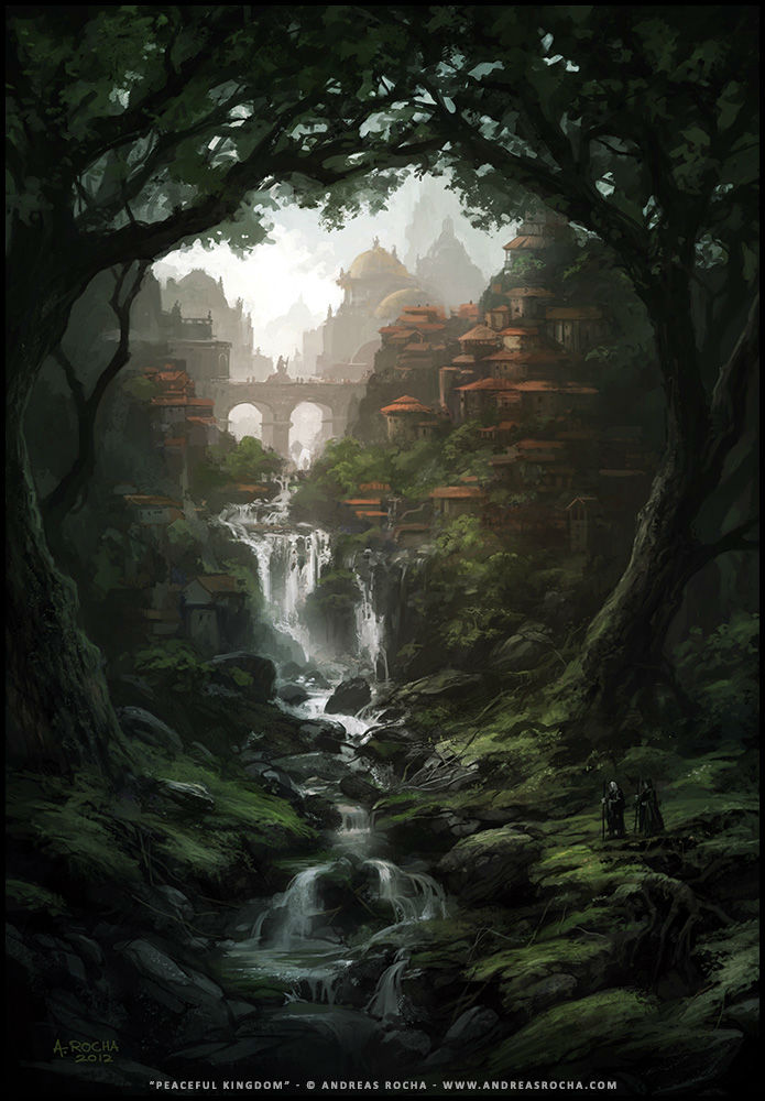 digital painting Peaceful Kingdom