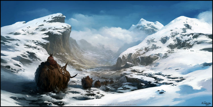 fantasy concept art - Winter Travellers