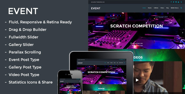 responsive WordPress theme for events website