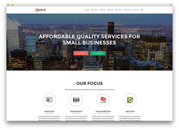 Free WordPress One Page Parallax Themes0014