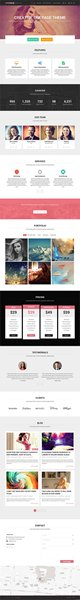 One Page Portfolio WordPress Themes001