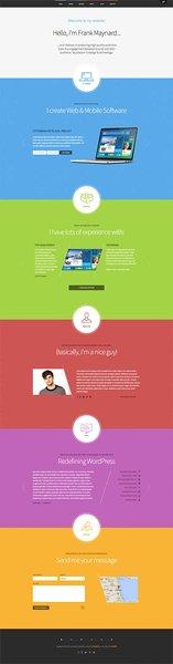 One Page Portfolio WordPress Themes0011