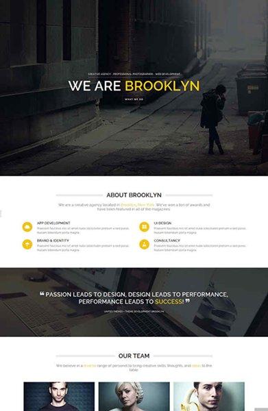 One Page Portfolio WordPress Themes007