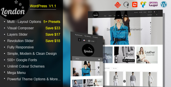 London Stars - Responsive WooCommerce Theme