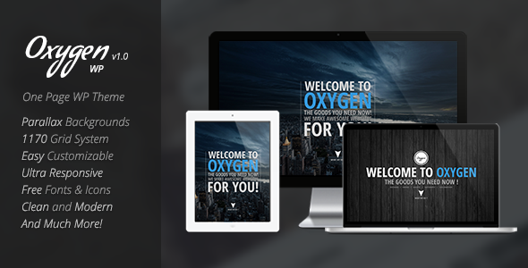 Oxygen One Page Parallax WordPress Theme