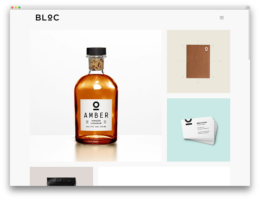 bloc simple portfolio theme