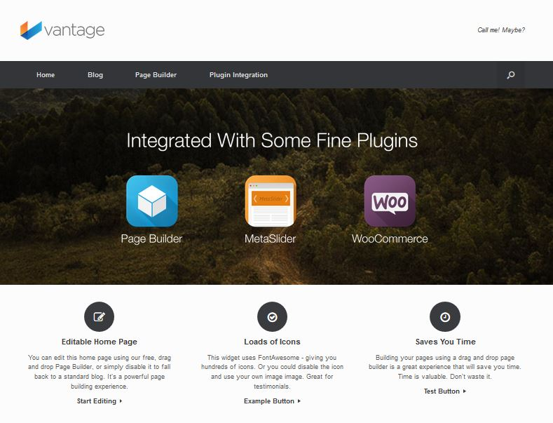 vantage free wordpress theme