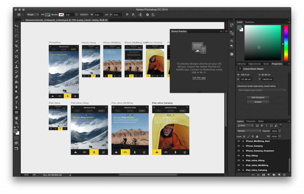 photoshop device preview