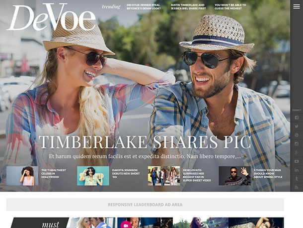 DeVoe WordPress Fashion Theme
