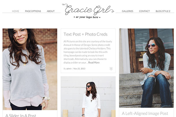Gracie Girl WordPress Theme