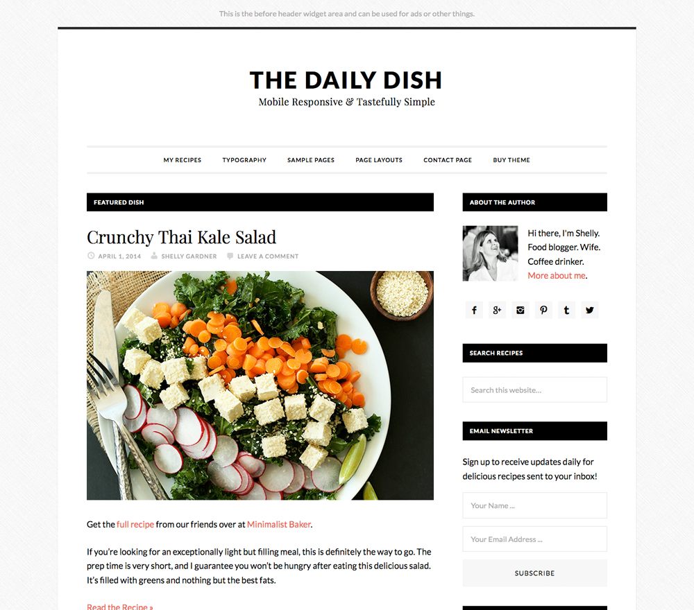 daily dish wordpress theme