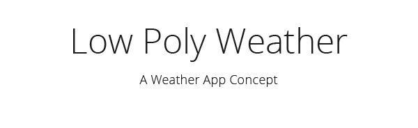 low poly weather app