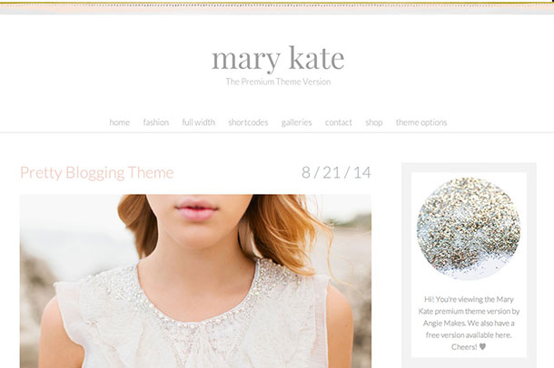 mary kate wordpress theme