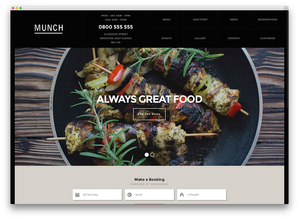 munch wordpress theme