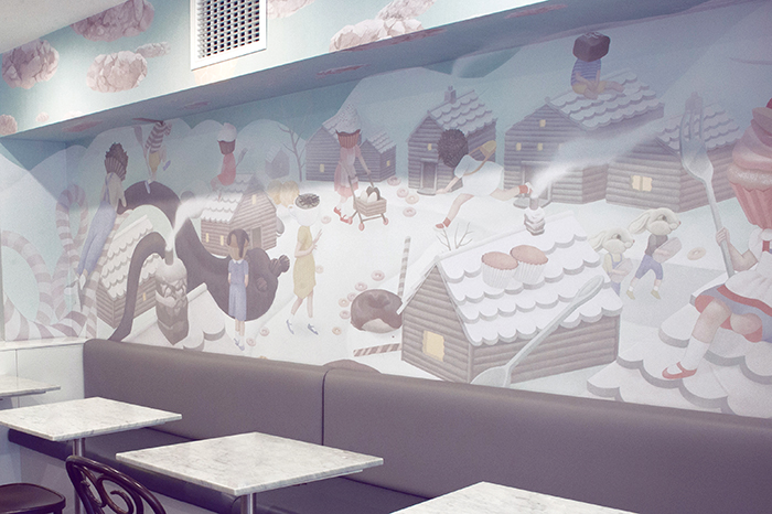 zokoko coffee shop mural