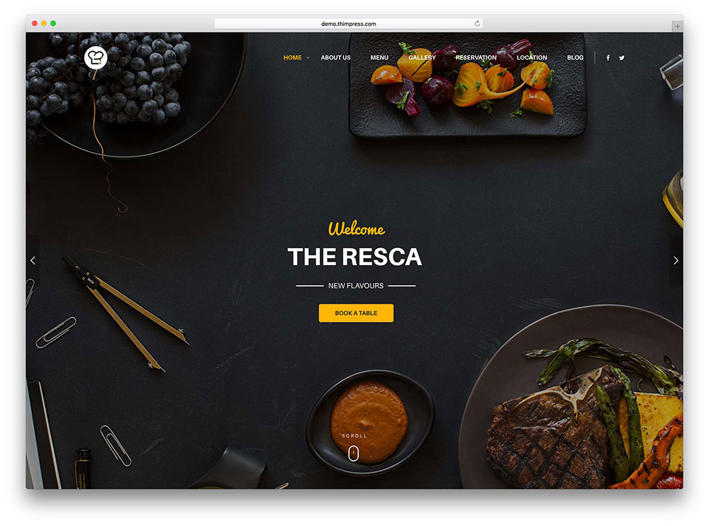 resca coffee shop wordpress theme