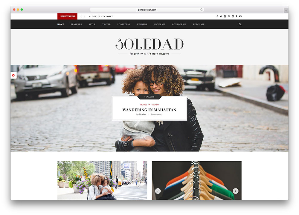 soledad fashion lifestyle blog theme