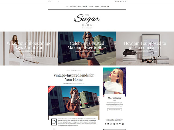 sugarblog wordpress theme