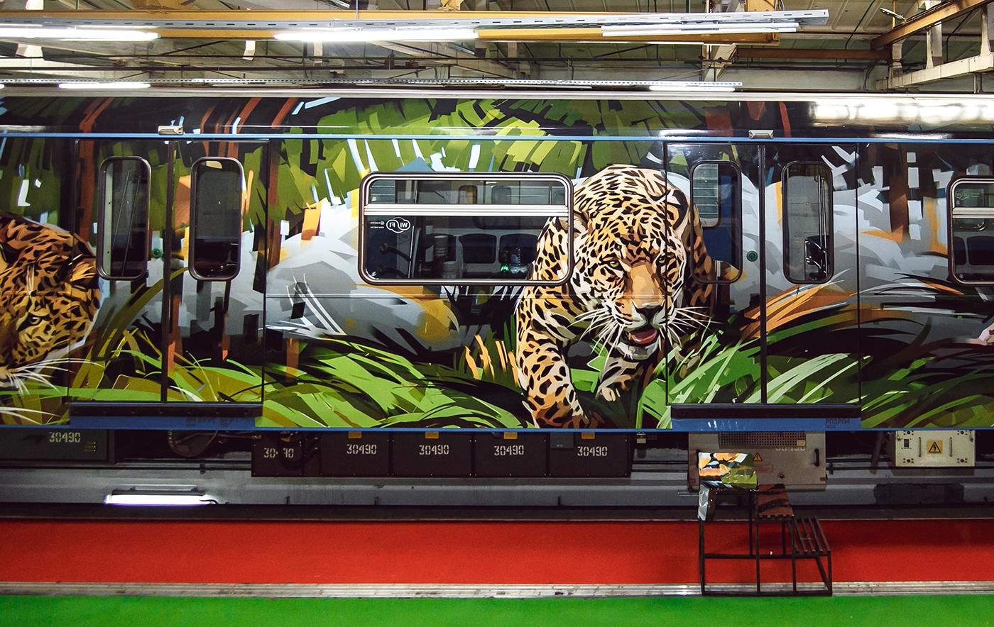 Big cats in subway 11